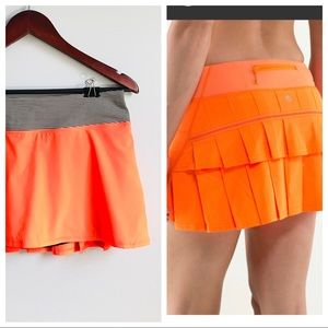 NEW! Lululemon Pace setter skirt in orange